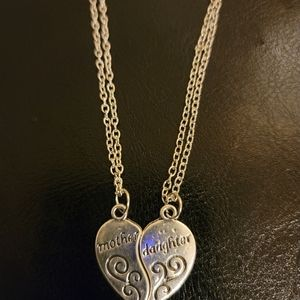 Mother/Daughter silver necklace set